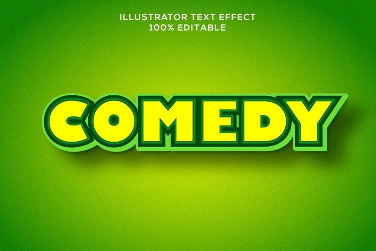 coemdy text effect editable vector example image 1