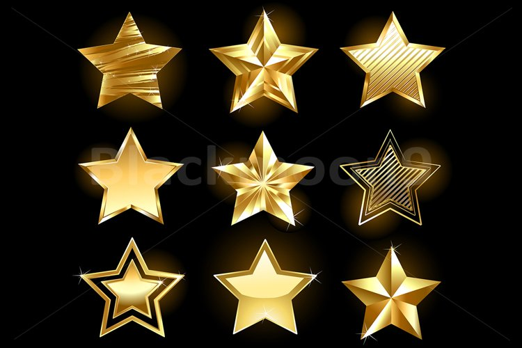 Set of Gold Stars example image 1