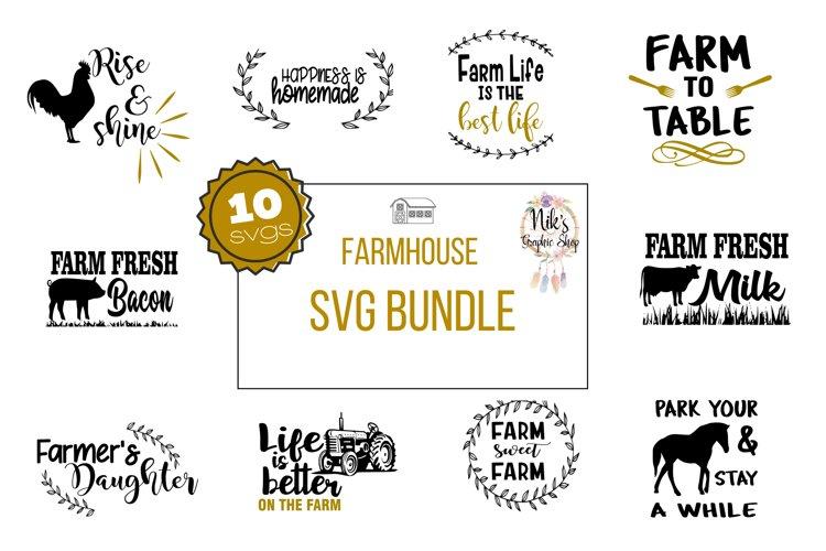 Farmhouse Svg Bundle, Farm SVG PNG DXF EPS