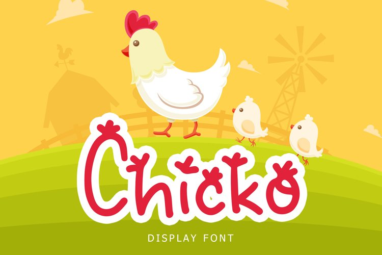 Chicko Cute Display Font example image 1