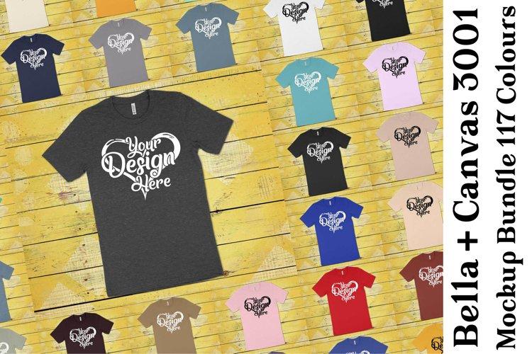 Bella Canvas Mockup 3001 Bundle Clean T-Shirt Mock Ups 338