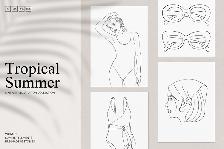 Tropical Summer Branding Set example image 1
