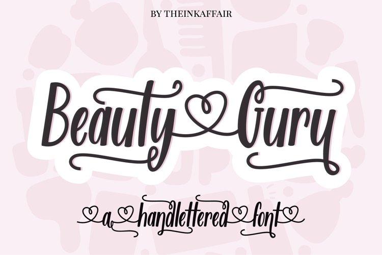 Beauty Guru, decorative script font example image 1