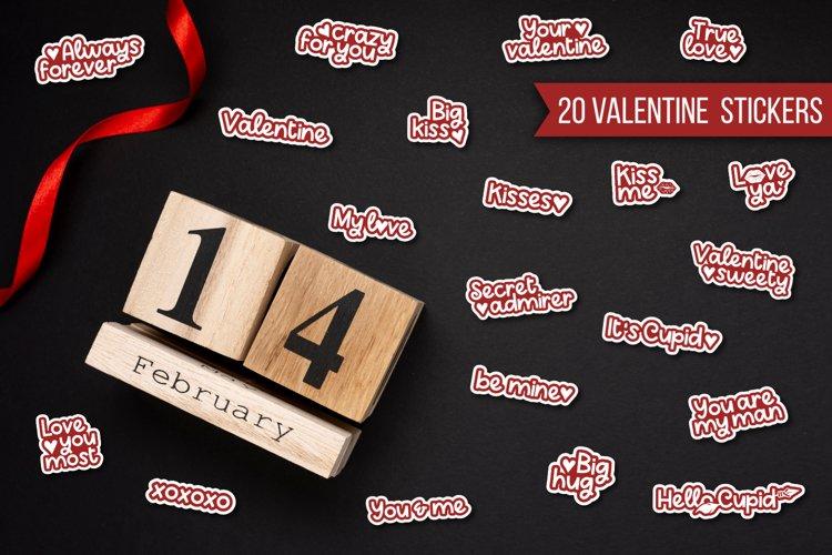 Valentine stickers example image 1