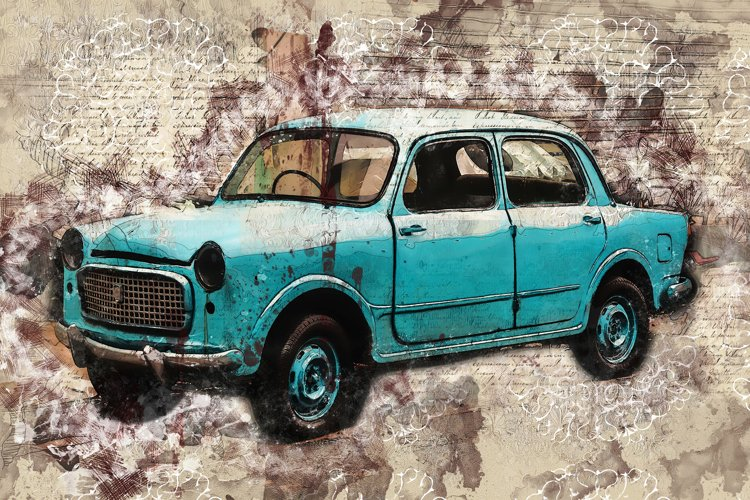Vintage car printables in 7 different formats 300 dpi #58