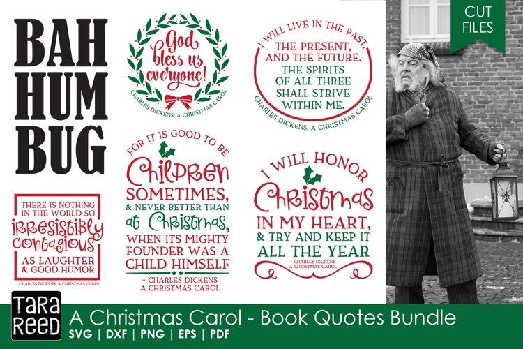 A Christmas Carol Book Quotes - Christmas SVG files example image 1