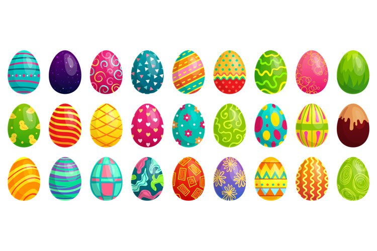 Easter eggs. Spring colorful chocolate egg, cute colored pat example image 1