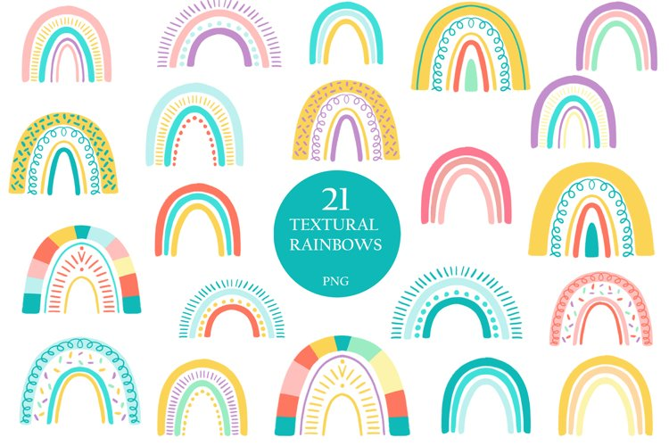Summer colorful rainbowes clipart