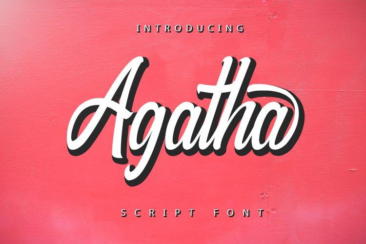 Agatha - Script Font example image 1
