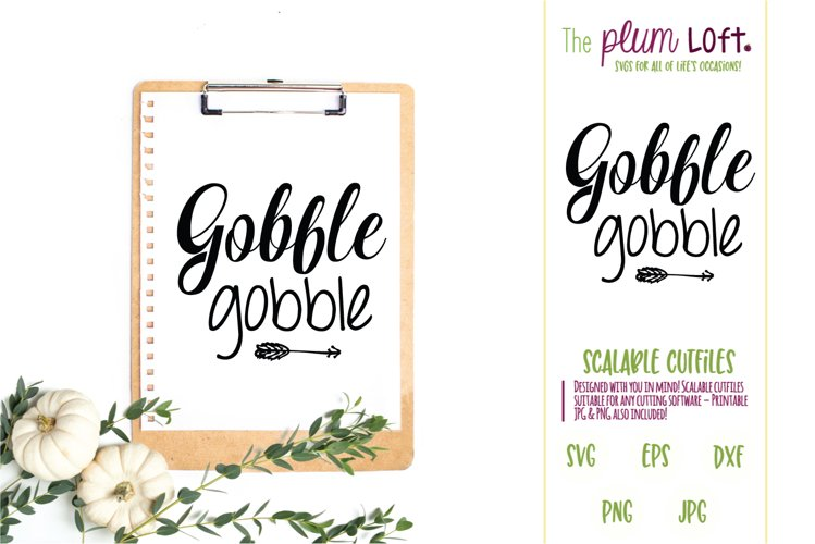 Gobble Gobble - SVG Design example image 1