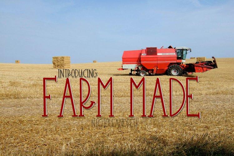 Farm Made - A Farmhouse Style Font example image 1