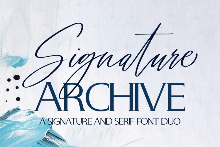 Signature Archive - Serif and script font duo