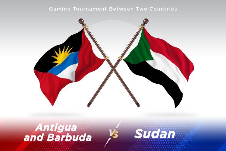 Antigua vs Sudan Two Flags example image 1