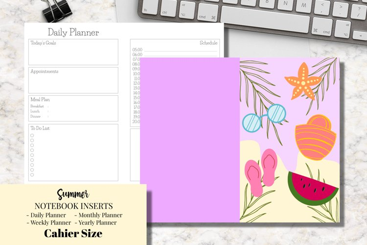 Summer Cahier Size Notebook Inserts Planners example image 1