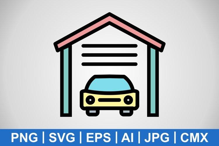 Vector Garage Icon example image 1