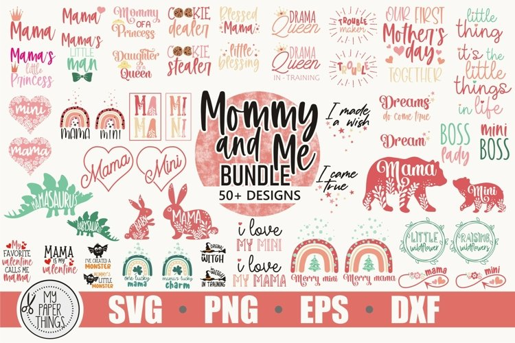 Mommy and me svg Bundle | Mama and mini svg Bundle - Free Design of The Week