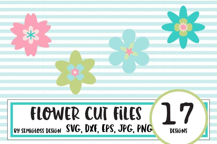 Flower Cut File Bundle example image 1