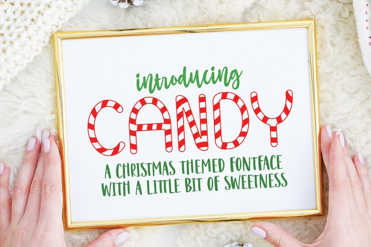 Candy Christmas Font - Christmas Candy Font example image 1
