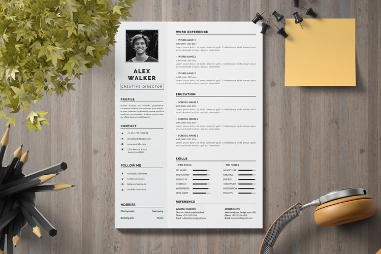 Resume Template | CV Template example image 1
