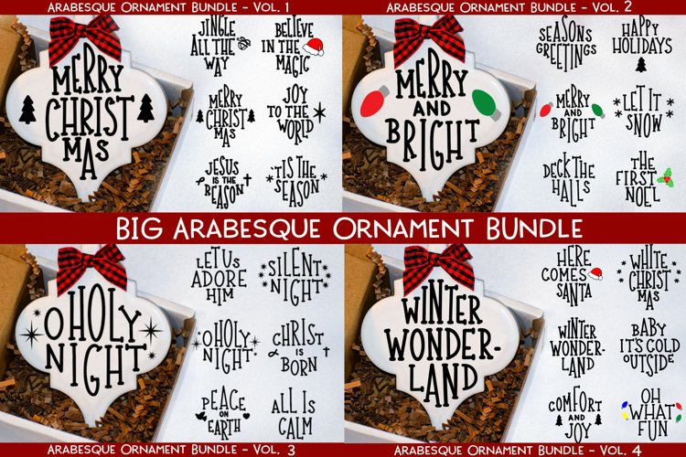 Big Arabesque Ornament Bundle - Christmas Ornament Bundle