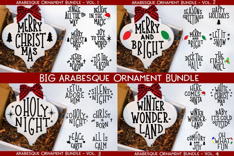 Big Arabesque Ornament Bundle - Christmas Ornament Bundle