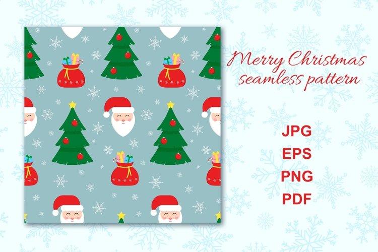 Christmas retro seamless pattern with Santa Claus. example image 1