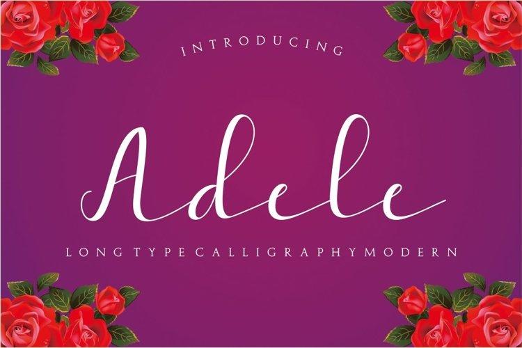 Web Font Adele Script example image 1
