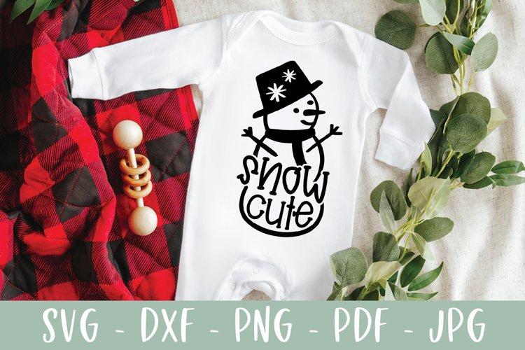 Snow Cute SVG - Snowman Christmas SVG