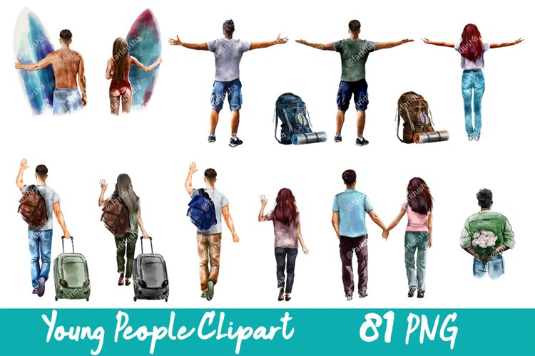 People Clipart Young People Bundle PNG