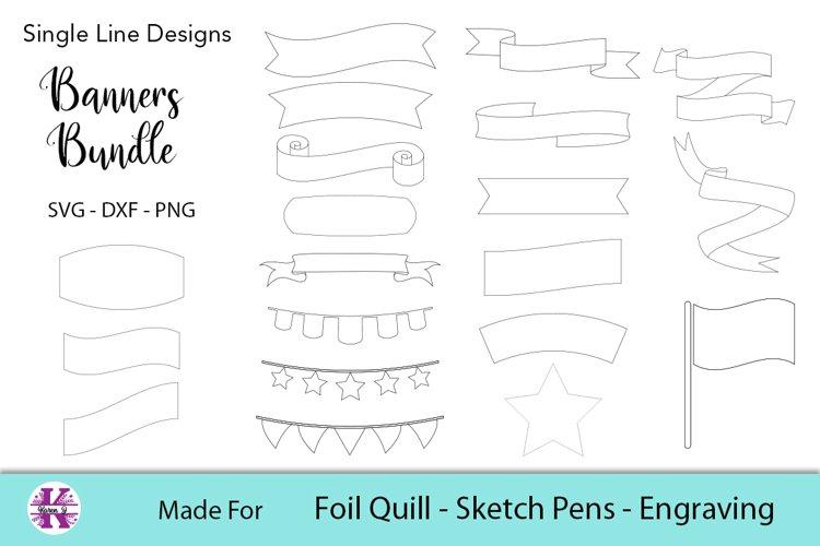 Banners Bundle | Foil Quill |Single Line Designs