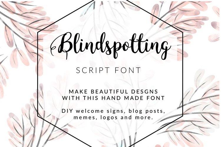 BLINDSPOTTING SCRIPT FONT example image 1