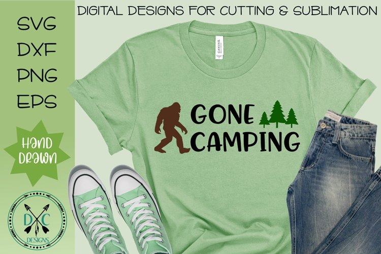 Gone Camping Sasquatch SVG example image 1