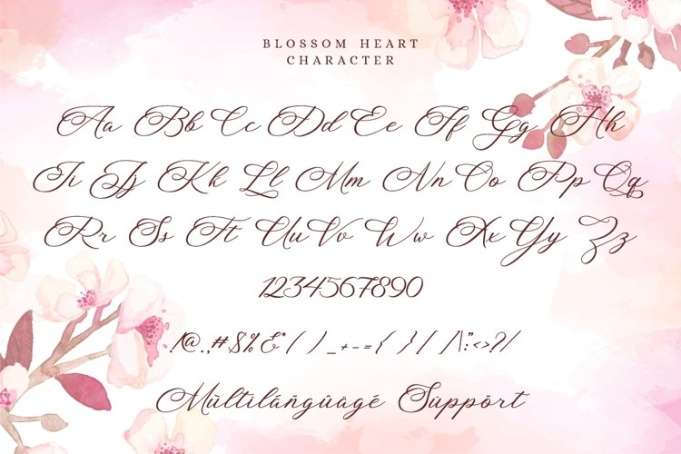 Blossom Heart - Valentine Font example 9