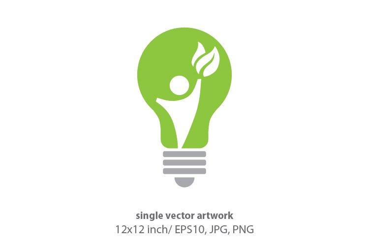human light bulb, vector example image 1