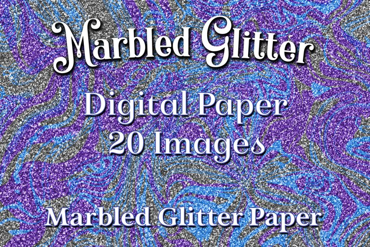 Marbled Glitter - 20 Digital Paper / Backgrounds / Textures example image 1