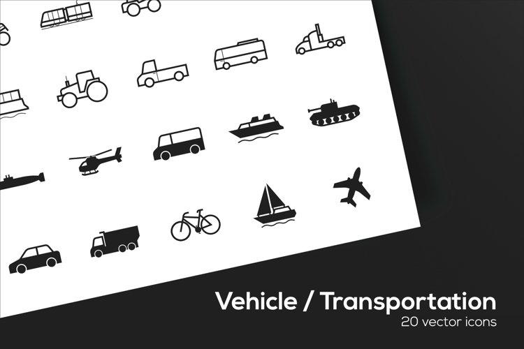 Vehicle / Transportation Icons Set - SVG