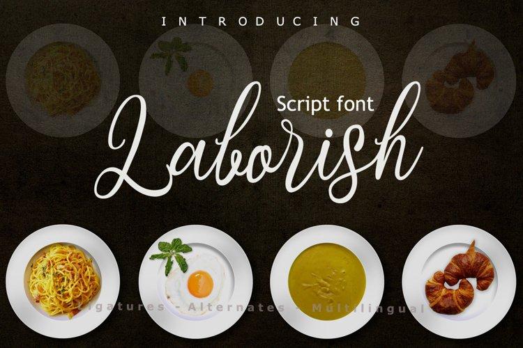 Laborish Font example image 1