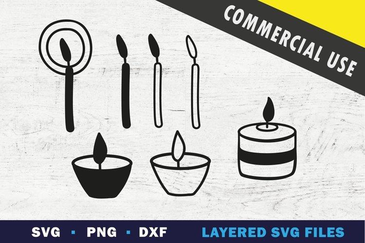 Burning Candle SVG, black flame candle