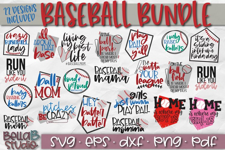 Baseball SVG Bundle, Baseball Mom SVG, Raising Ballers