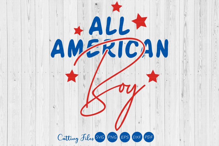 All American boy | 4th of July | SVG Cut files | example image 1