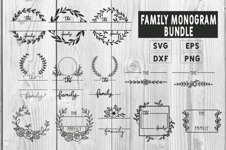 Family Monogram Bundle, 13 Farmhouse Style Monogram Bundle
