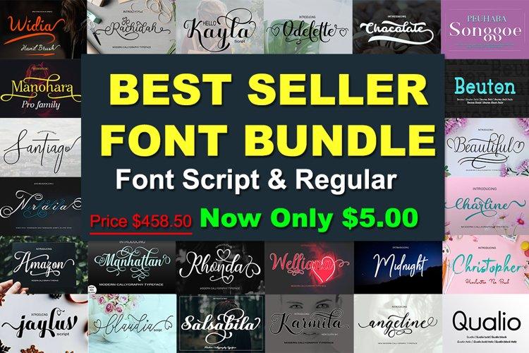 Best Font Bundles Script and Regular