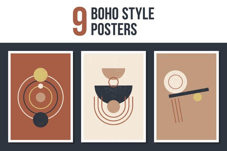 Contemporary boho posters set