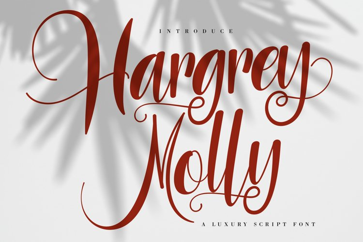 Hargery Molly | Luxury Script Font example image 1