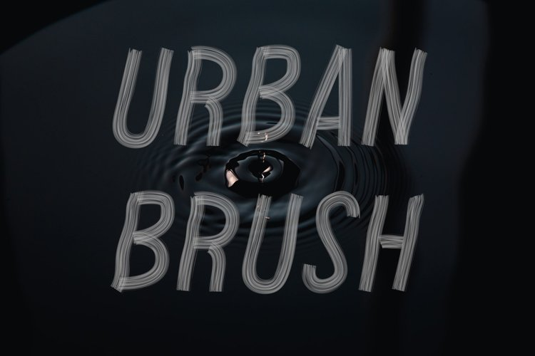 Urban Brush SVG Font