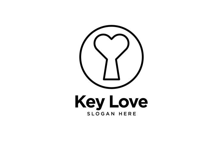 Key Love Logo example image 1