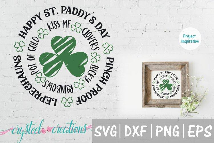 St. Patricks Day Circle SVG, DXF, PNG, EPS 14x14