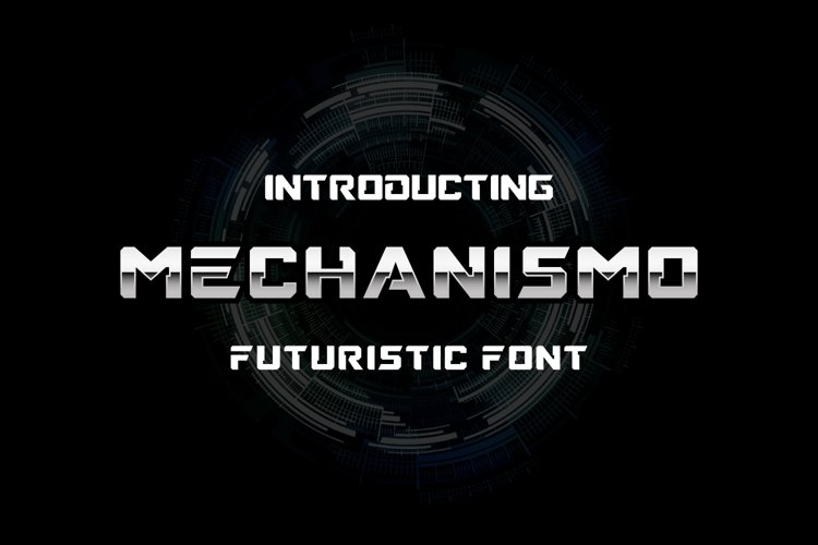 Mechanismo - a Techno Display Font example image 1
