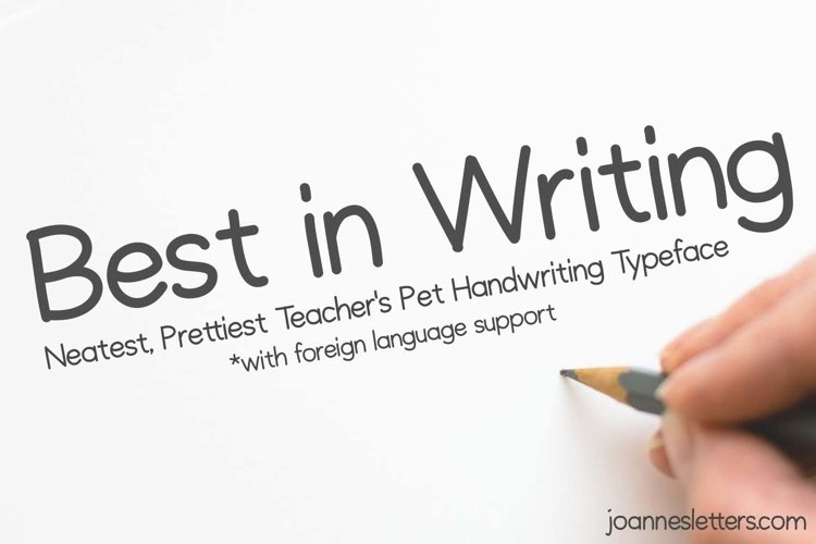 Best in Writing Neatest Prettiest Teachers Pet Handwriting