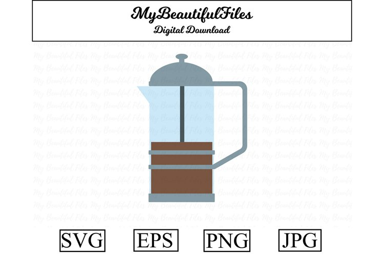 coffee pot SVG - Cute coffee SVG, EPS, PNG and JPG example image 1